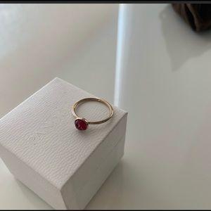 Pandora ruby ring
